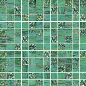 Mosaico Lux Mix Quadretti Verde
