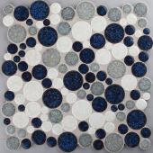 Mosaico Sphere Blue White
