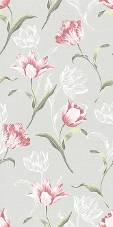 Норфолк Цветы серый 11084