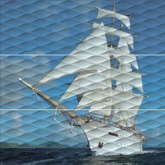 Панно Майори Корабль обрезной ALD\A01\3x\13025R