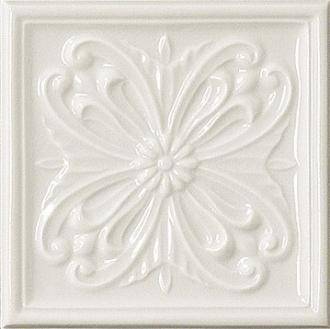 Rialto White Formella Flor
