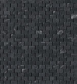 Roma Grafite Brick Mosaico