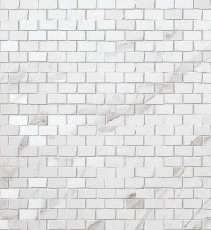 Roma Statuario Brick Mosaico