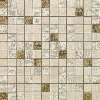 Sunrock Travertino Almond Mosaico Gold