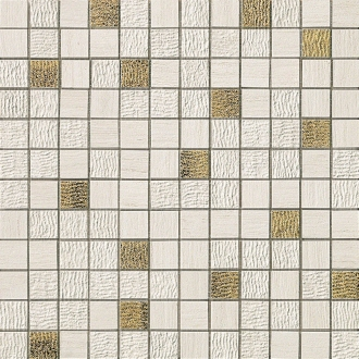 Sunrock Travertino White Mosaico Gold
