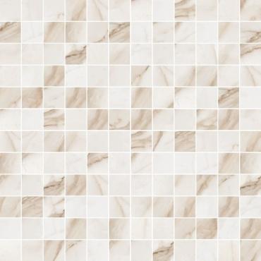 Мозаика Flaviker Supreme Golden Calacatta Mosaico Anticato 30x30 матовая