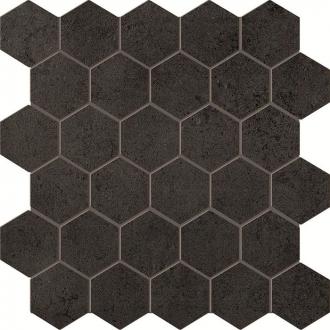 Terra Antracite Esagono Mosaico