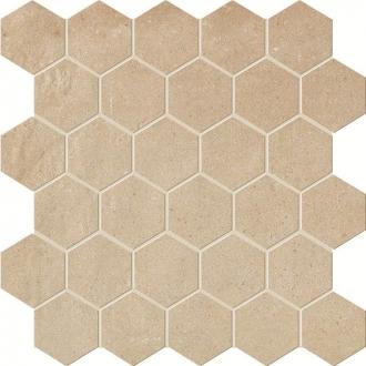 Terra Siena Esagono Mosaico