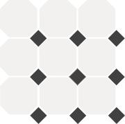 White Octagon 16 Black Dots 14