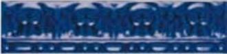 Zocalo Moldura Relieve Azul Vale